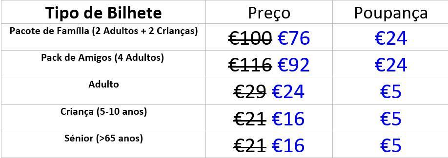 Aqualand Preços PT