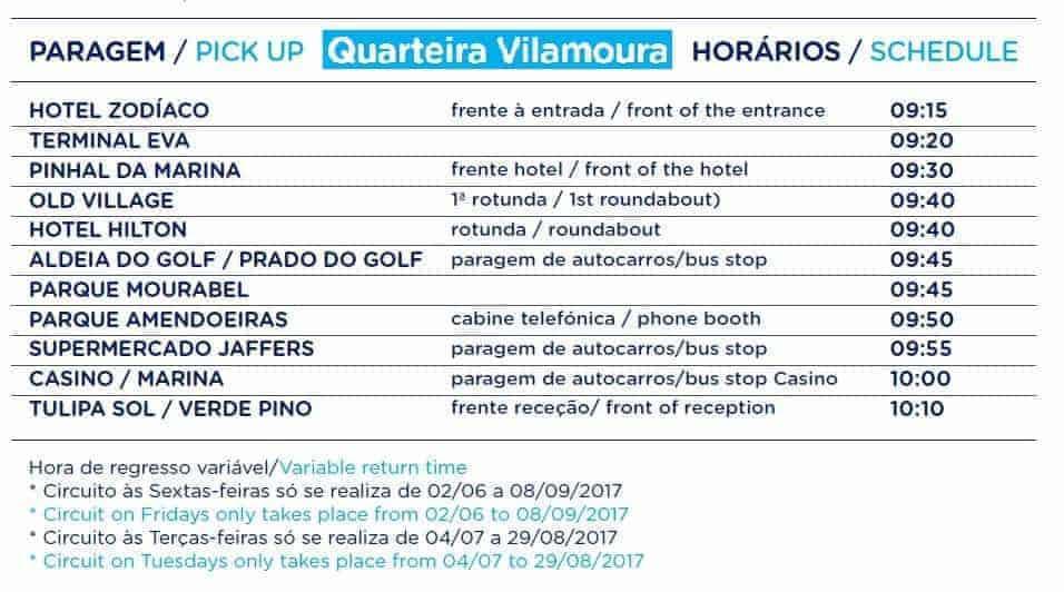 Aquashow Quarteira Vilamoura Bus