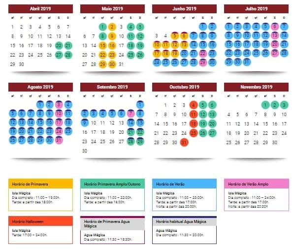 Isla Magica Calendario 2019