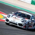 Porsche Caymans at the Portimao Autodrome Racing School
