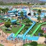 Aerial view of the slides at Aquashow water park