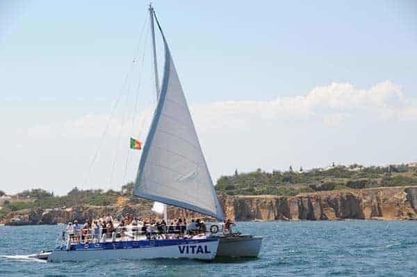 The Vital Catamaran sailing from Vilamoura
