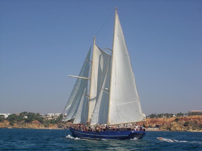 The Condor de Vilamoura sailing during the beach BBQ cruise