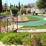 Vilamoura Mini Golf Camp with small lagoon