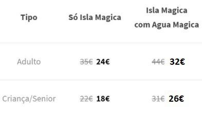 Isla Magica Precos Domingo Segunda