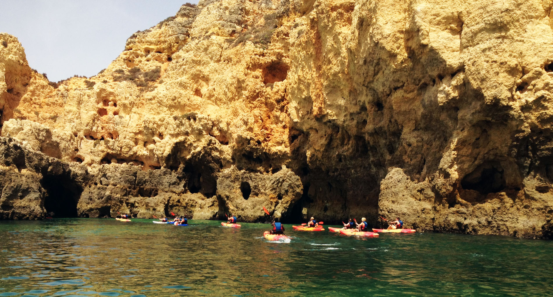 Kayaks on cave tour from LAgos