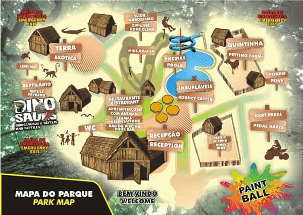 Map of Krazy World Zoo attractions
