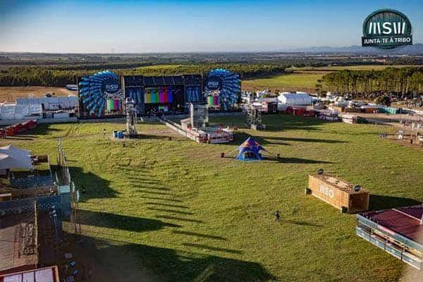 vista aérea del recinto del Festival Sudoeste