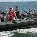 3 people in a RIB in Ria Formosa