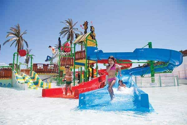 The childrens splash park at Slide and Splash