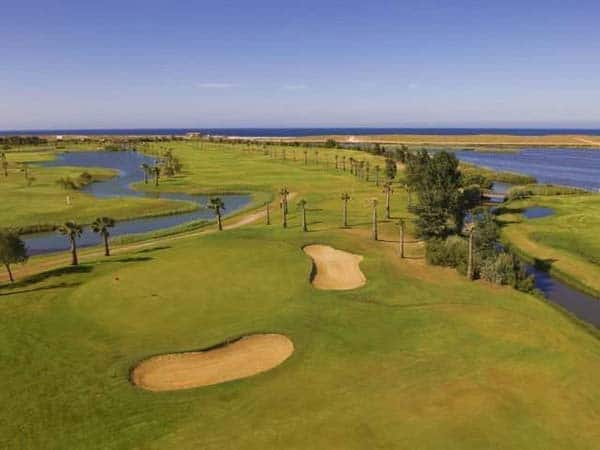 Salgados Golf Camp with lakes and sea