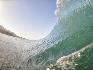 Wave photograph near water.