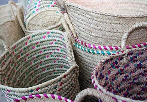Locally made baskets