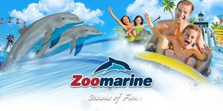 Zoomarine collage of rides