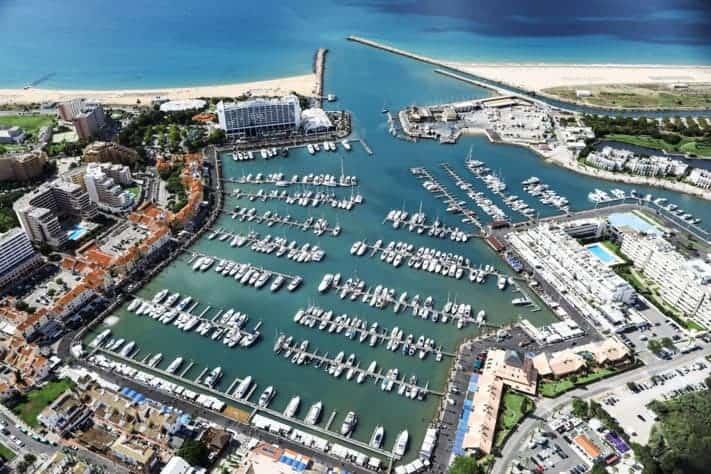 Vilamoura marina aerial view