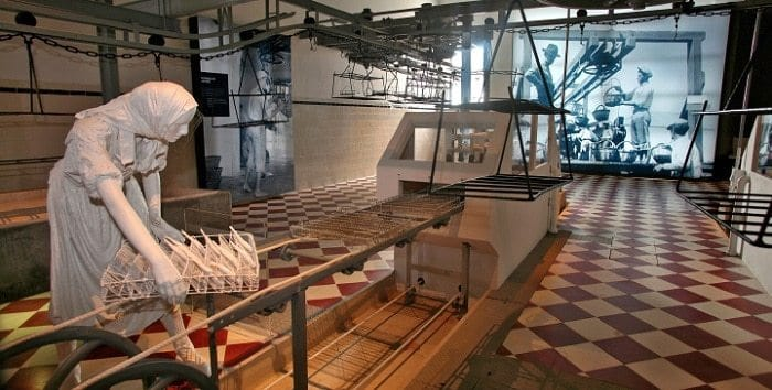exposición sobre la industria de sardinas del museo de Portimão