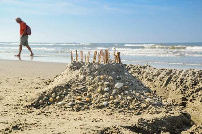 Un chateau de sable en Algarve