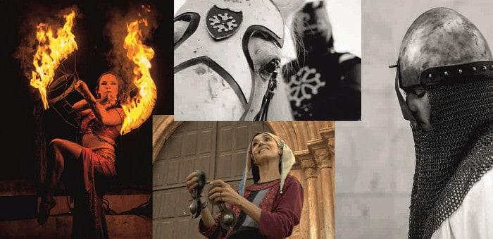 montagem de 4 fotografias da Feira Medieval de Silves