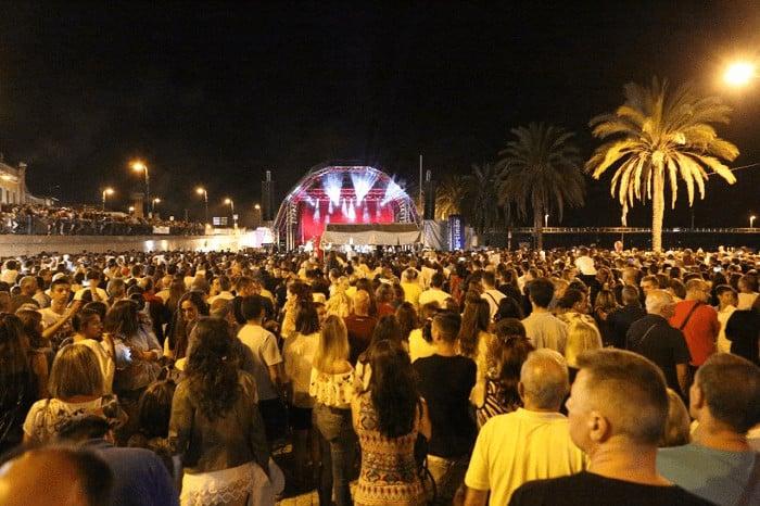 Concert au festival de la sardine de Portimão