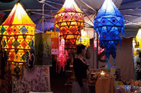 Mercado de Lagoa à noite