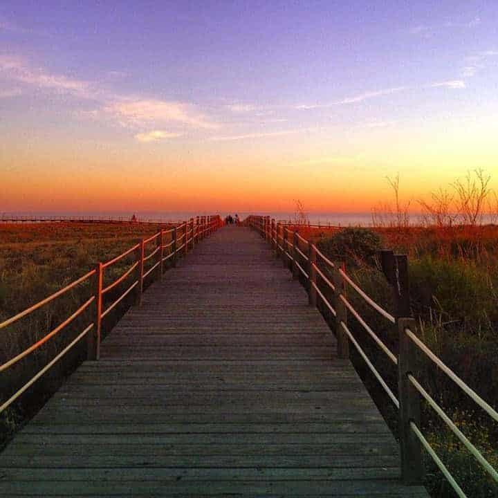 puesta de sol en Salgados