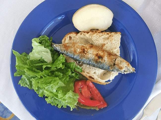 sardines grillées à la portugaise