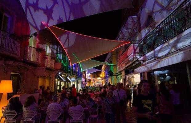 Centre ville de Faro la nuit