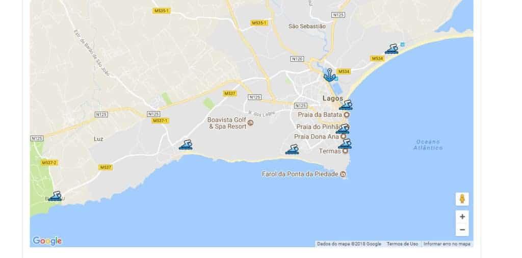 mapa de Ponta da Piedade