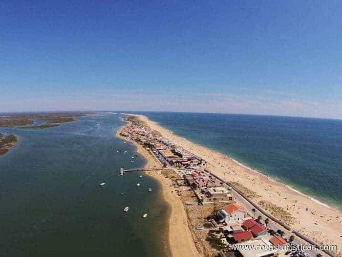 vue aérienne de l'île de Faro