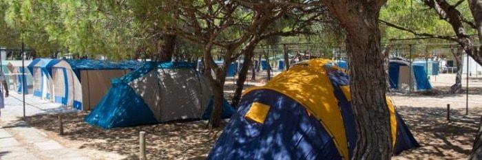 Camping park in Tavira island.