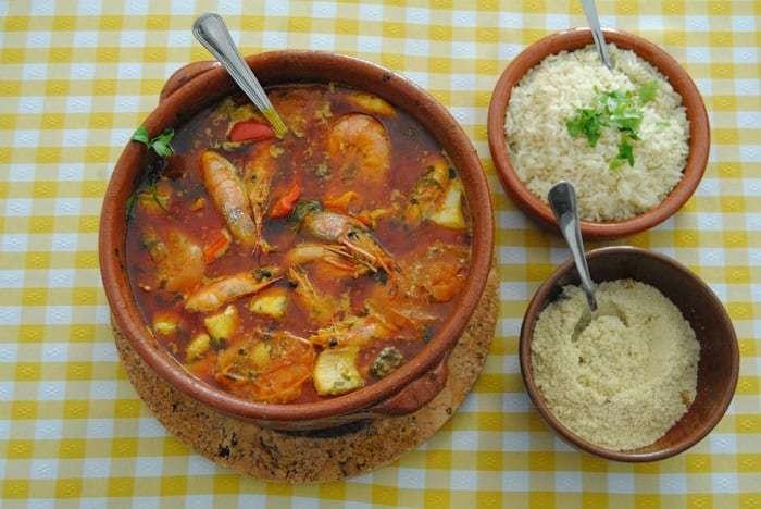 Moqueca Mista. restaurante castelo tavira