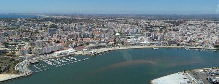 Portimão aerial view.