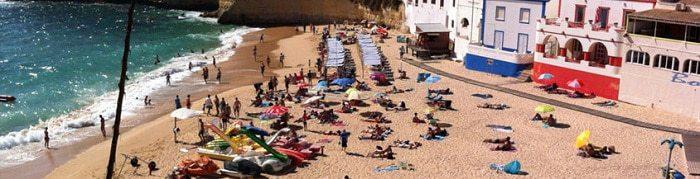 Praia de Carvoeiro.