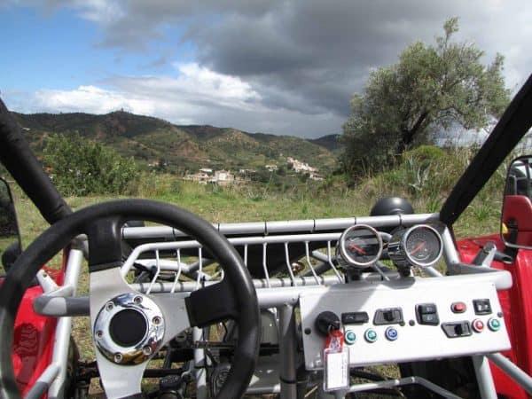 l'intérieur d'un buggy en Algarve