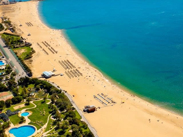 Vilamoura beach and pools