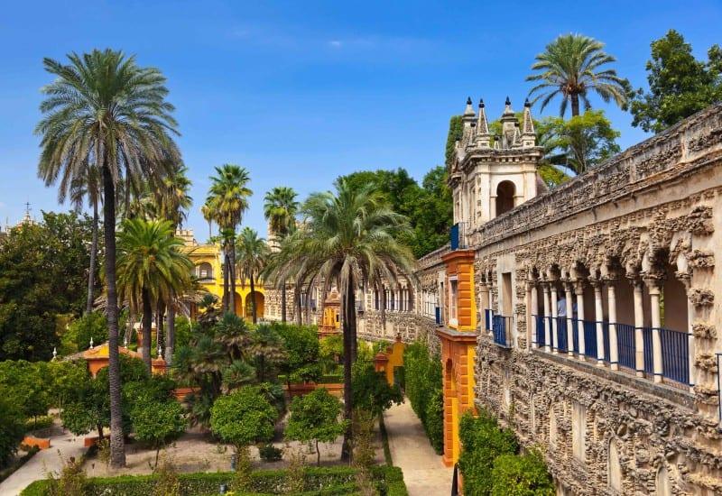 Real Alcazar Gardens In Seville