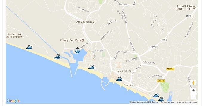 Mapa Praia Vilamoura