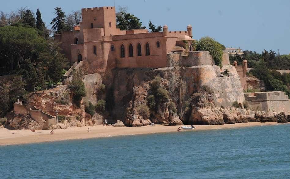 São João Do Arade Castle on the beach