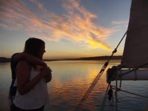 Sunset sailing boat Cruise Alvor