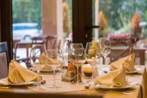 Mesa de um restaurante