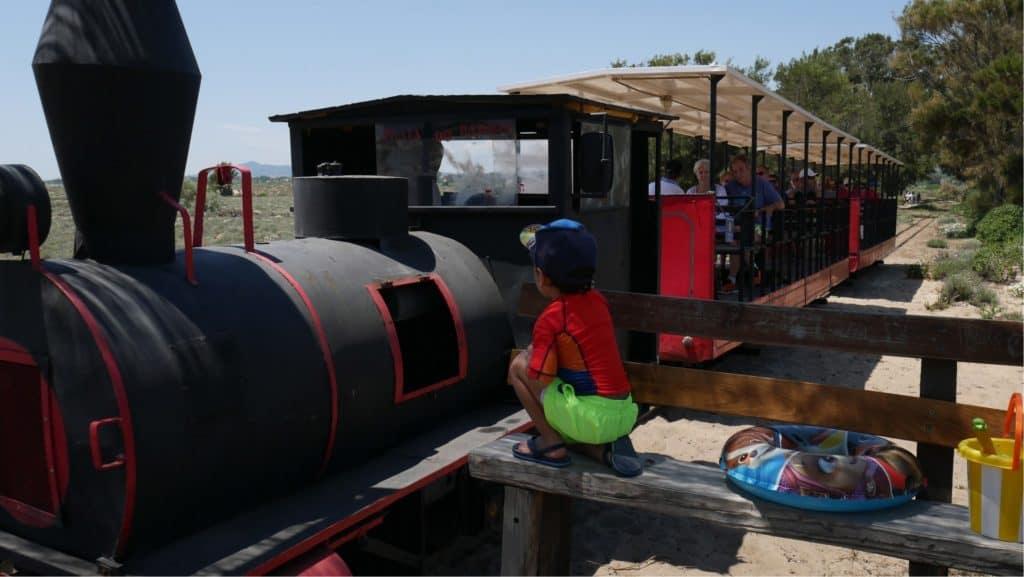 Comboio para a Praia do Barril